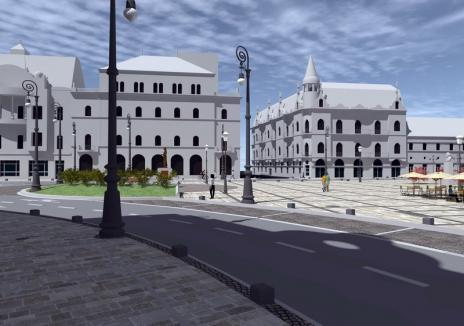 Centru sub asediu! Lucrările pentru reabilitarea Pieţei Ferdinand îngreunează traficul prin centrul Oradiei. Vezi cum va arăta! (FOTO)
