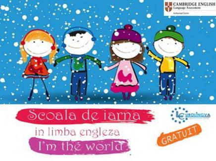 Şcoală de iarnă gratuită pentru copiii care vor să înveţe limba engleză prin joacă