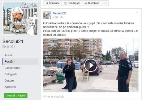 Amuzant şi revoltător: Un prahovean ce filma Catedrala din Centrul Civic a fost umflat de doi poliţişti orădeni, care i-au spus că trotuarul este al... Bisericii (VIDEO)