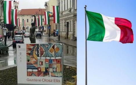 De Ziua Maghiarilor de Pretutindeni, primarul din Sfântu Gheorghe celebrează cu… drapelul Italiei
