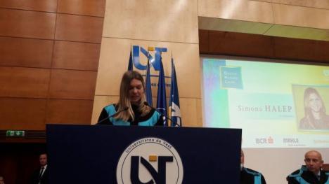Simona Halep a devenit Doctor Honoris Causa al Universităţii de Vest din Timişoara