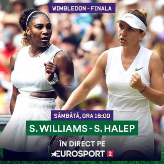 Hai, Simona! Românca o întâlneşte, sâmbătă, pe Serena Williams în finala Wimbledon