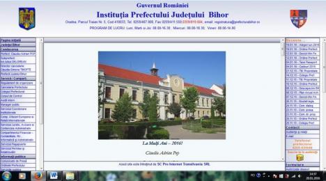 Prefectura Bihor, fruntaşă la transparenţă: cele mai multe informaţii publice afişate din oficiu pe site-ul instituţiei
