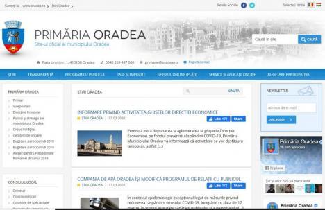 Online e mai sigur! Primăria Oradea îşi mută majoritatea operaţiunilor pe internet