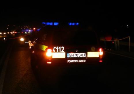 Un pieton a fost spulberat de o mașină pe DN 79, lângă Nojorid: Orădeanul a traversat neregulamentar și a murit pe loc