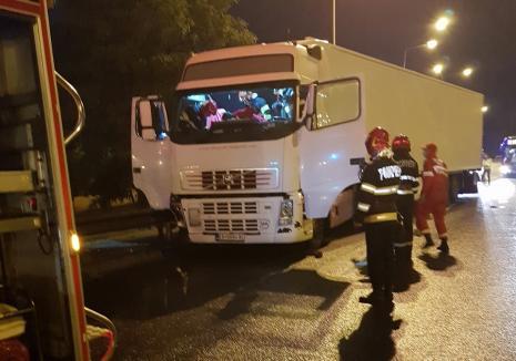 Tragedie în Oradea: Un șofer de TIR a murit, după ce a făcut stop cardiac la volan, pe centură