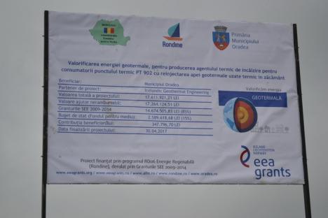 Investiţie de 4 milioane euro: Liceul sportiv şi 150 de consumatori din vecinătatea Universităţii se vor încălzi cu apă geotermală