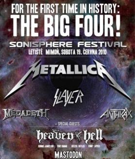 Metallica, Slayer, Megadeth şi Anthrax, pe aceeaşi scenă în România!