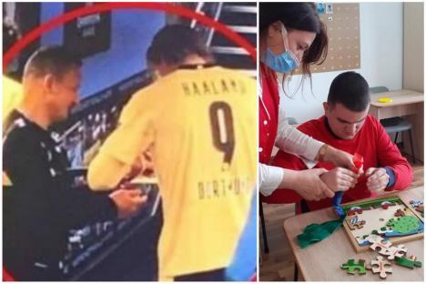 A făcut-o în scop caritabil: Octavian Şovre i-a cerut autograf fotbalistului Haaland pentru a ajuta persoanele cu autism