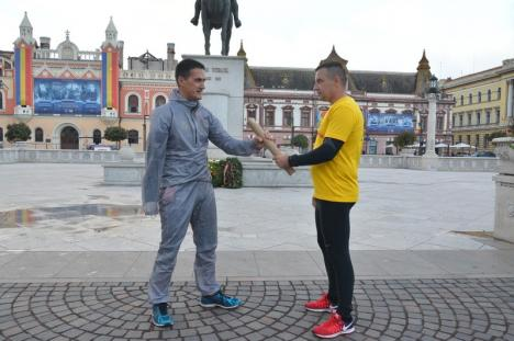 Ştafeta Veteranilor a ajuns în Oradea. Ultramaratonistul Levente Polgar aleargă pentru cauza Invictus (FOTO)