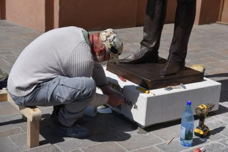 Statuia arhitectului Rimanóczy Kálmán jr. va fi dezvelită vineri, la Oradea, fără public (FOTO)