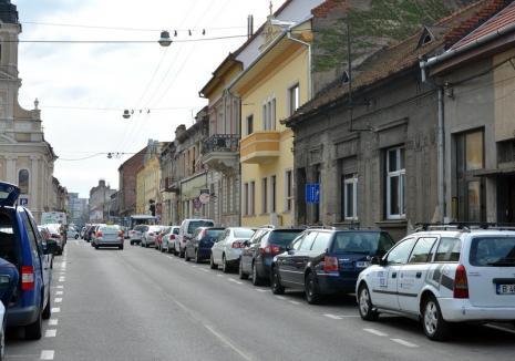 Trafic blocat, sâmbătă, pe strada Iuliu Maniu din Oradea