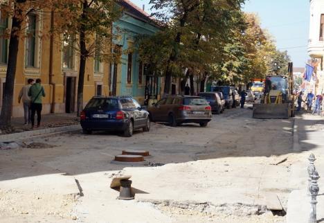 Strada Mihai Eminescu va fi redeschisă circulaţiei înainte de sfârşitul lunii octombrie