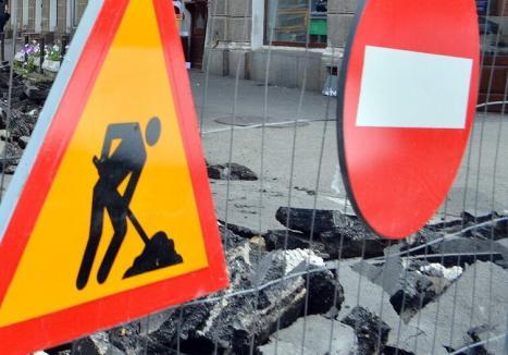 Noi restricţii de circulaţie, în Oradea: Un tronson al străzii Costa-Foru, închis pentru lucrări