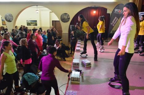 Sport pentru sănătate: Peste 100 de persoane au dat startul studiului inițiat de antrenoarea de Kangoo Jumps Kinga Sebestyen în Oradea (FOTO/VIDEO)