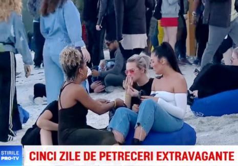 Cu 'prafuri' în prime time! O tânără s-a drogat în direct la tv pe plaja de la Mamaia (VIDEO)