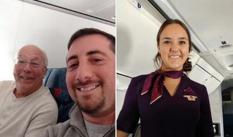 Crăciun în aer: A cumpărat bilete de avion la toate zborurile fiicei sale, stewardesă, pentru a petrece împreună cu ea