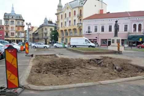Fără tise: Cum arată Piaţa Ferdinand fără arbori (FOTO)