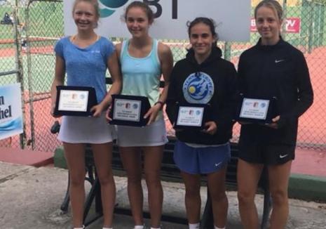 Orădencele Floriana Popovici şi Daria Jula au câştigat proba de dublu feminin 16 a turneului de tenis de la Marsa (Malta)