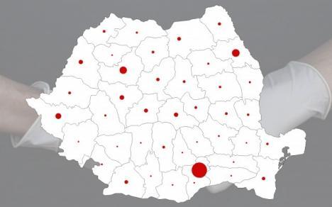 Covid-19 în România: Câte teste se fac şi care este rata infectării. Bihorul, printre judeţele cu rată mică