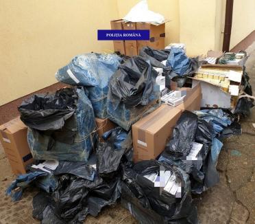 Ţigări de contrabandă de peste 170.000 lei, descoperite în Băile Felix: Unde erau ascunse baxurile (FOTO)