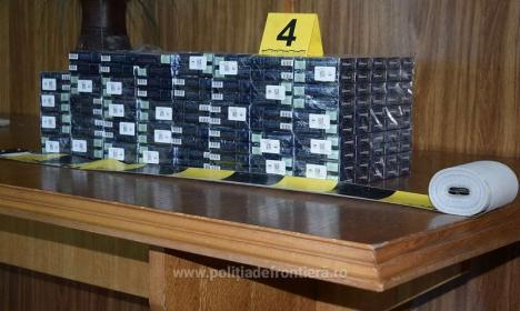 Peste 2.300 de pachete de ţigări de contrabandă, găsite în Borş (FOTO)