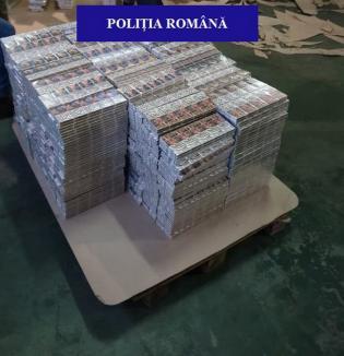 Captură uriașă în Bihor: Peste 4,5 milioane de țigări de contrabandă, la o firmă din Borș (FOTO / VIDEO)