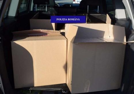 Orădean cu averea sub sechestru. Poliţiştii l-au prins cu 2.500 de pachete de ţigări de contrabandă în maşină