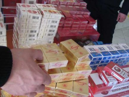 Aproape 6.500 de pachete de ţigarete de contrabandă, descoperite la Borş
