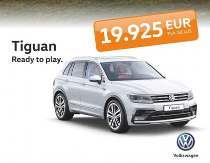 Tiguan e 'Ready To Play' de la 19.925 Euro, TVA inclus!