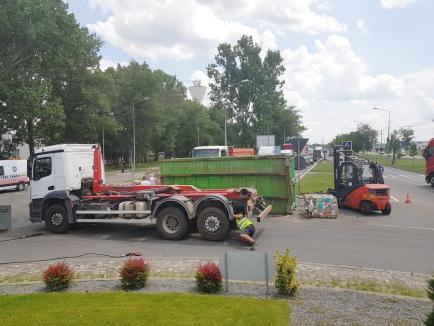 TIR răsturnat pe Calea Borșului, trafic îngreunat! (FOTO)