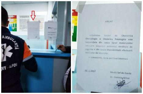 Se întâmplă în România: Secţie de spital închisă de medici, din lipsă de medicamente!