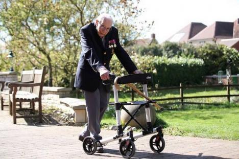 Un veteran de război de 99 de ani a strâns 18 milioane de lire sterline pentru lupta antiCovid-19 (VIDEO)