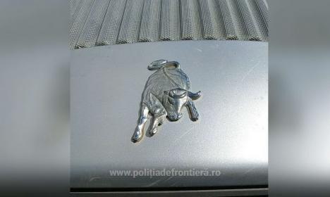 Un tractor Lamborghini a fost 'capturat' la Borş. Vehiculul este estimat la 120.000 lei (FOTO)
