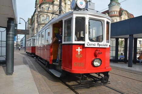 Traseul şi programul de circulaţie a tramvaiului de epocă în 10 august