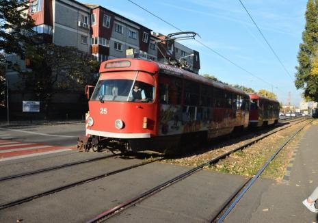 Circulaţia tramvaielor, sistată din nou. Se fac lucrări la calea de rulare