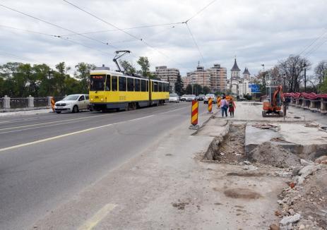 Circulaţia tramvaielor pe Bulevardul Magheru din Oradea va fi sistată, de VINERI, până în iunie 2020