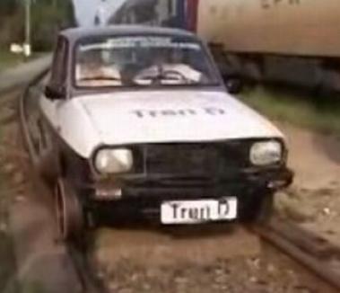 Tren-D, Dacia 1300 ce merge pe calea ferată (VIDEO)