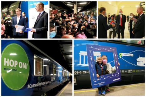 Trenul Connecting Europe Express a fost la Oradea: Peste 100 de persoane l-au aşteptat în Gara Mare (FOTO / VIDEO)