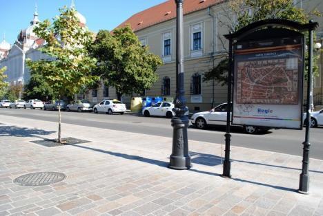 Au prelungit pietonala. Lucrările de lărgire a trotuarului din strada Republicii au fost finalizate (FOTO)