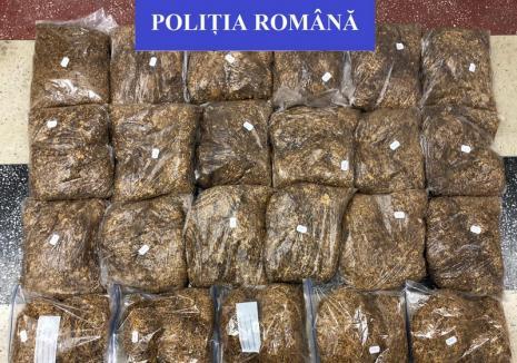 Tutun de contrabandă confiscat la Marghita, ţigări netimbrate găsite la Salonta. Proprietarii s-au ales cu dosare penale