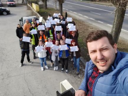 #Șîeu: Bihorenii au protestat pentru autostrăzi. Vezi cine și cum a manifestat! (FOTO / VIDEO)