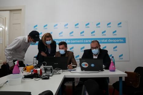 """Optimism rezervat la USR-PLUS, în Oradea: """"Ne-am confruntat cu un PNL foarte puternic"""" (FOTO)"""