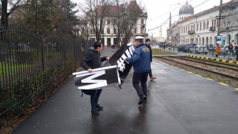 #VăVedem, de la Oradea: Protest tăcut în faţa sediului PSD Bihor al membrilor Oradea Civică (FOTO)
