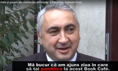 De la 'genunche' la 'pamblică'! Noul ministru al Educaţiei chinuie limba română (VIDEO)