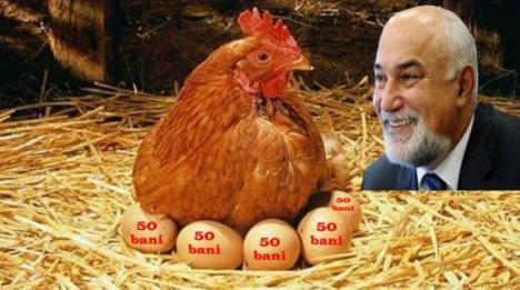 Varujan Vosganian: 'Fiecare ou mâncat de la găina din curte văduveşte bugetul de 50 de bani!'