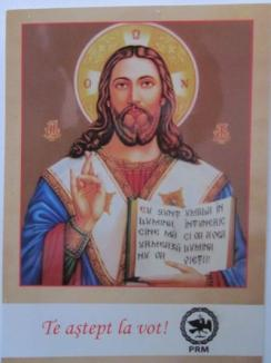 Iisus, agent electoral pentru PRM, în timp ce PSD împarte anafura credincioşilor