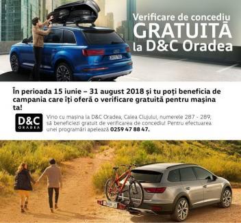 Verificare de concediu gratuită a maşinii tale, la D&C Oradea!
