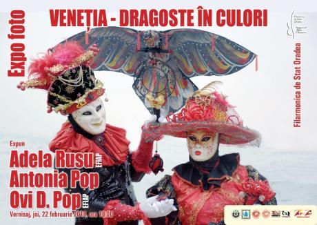 Carnavalul de la Veneţia 'vine' la Oradea, într-o expoziţie de fotografie