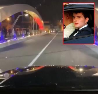 Bizon de Centenar: Victoraş Micula a inaugurat cu maşina Podul Centenarului din Oradea, deşi încă e închis (VIDEO)